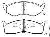 Brake Pad Set:05018595AA